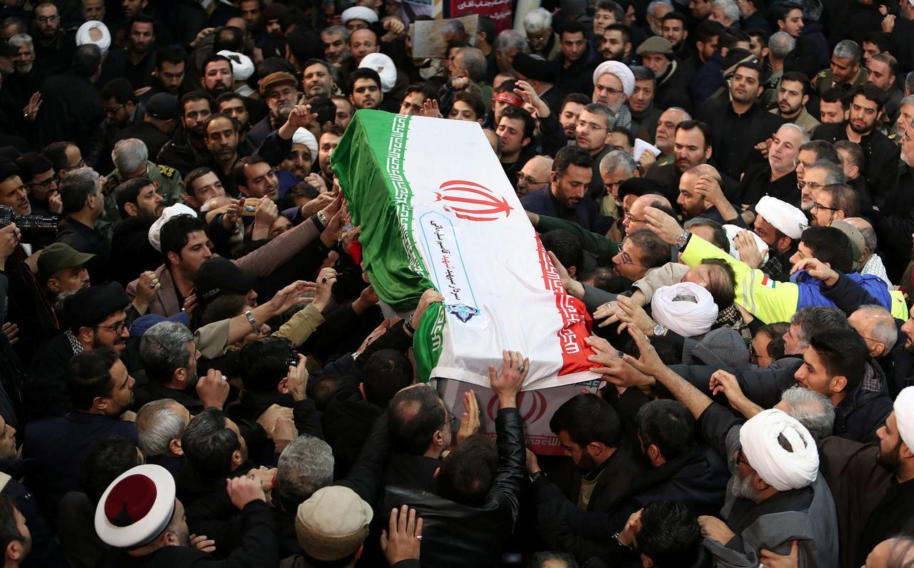funeral procession of general Soleimani