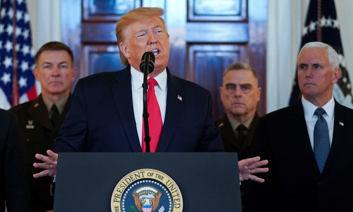 Trump announcement regarding missiles strikes on bases in Iraq