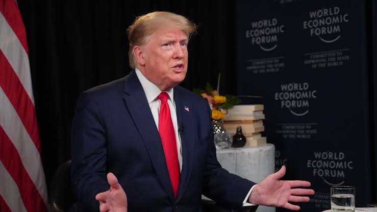 Donald Trump talks to Joe Kernen from World Economic Forum in Davos