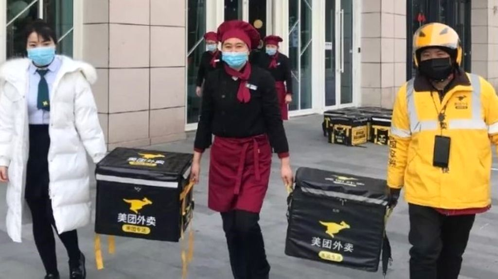 Coronavirus outbreak imposes logistics challenges to food delivery businesses in China