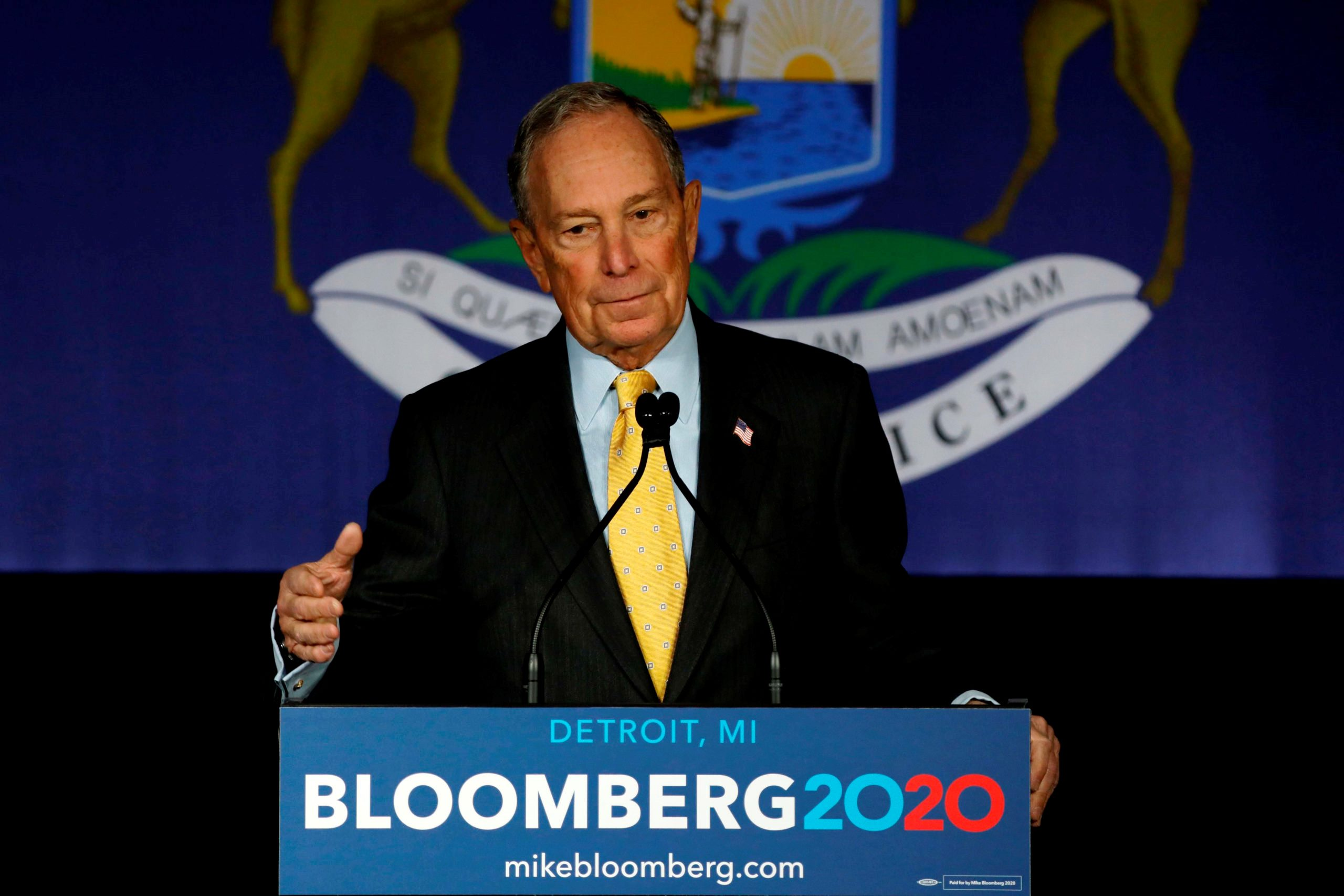 Presidential candidates attack Bloomberg for his huge spending on Campaign