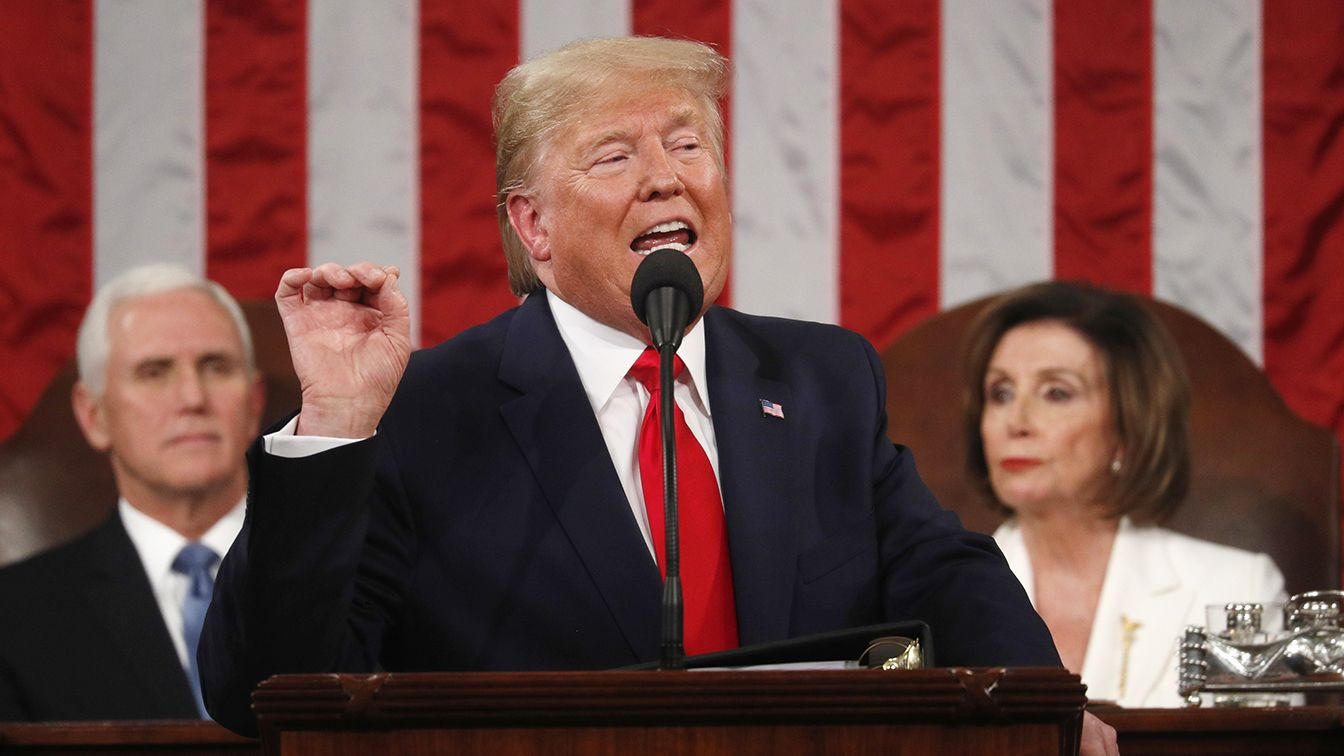 Highlights of 97 in-person state of the union address by Donald Trump