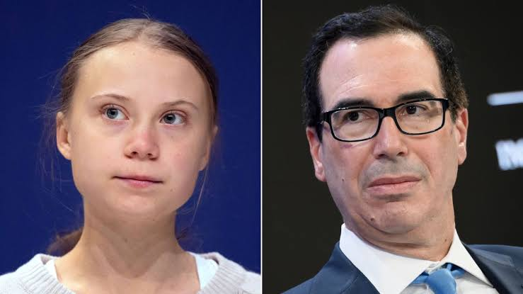 Thunberg and Mnuchin pass comments on each other